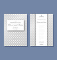set of wedding invitation templates cover design vector image