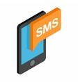 Smartphone smsisometric 3d icon vector image