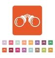 The binoculars icon Search symbol Flat vector image
