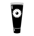 tube cream icon simple black style vector image