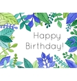Watercolor hand drawn floral frame for cards and vector image