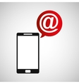 cellphone mail web multimedia icon vector image
