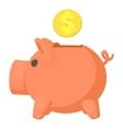 Money box icon cartoon style vector image
