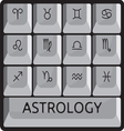 Zodiac astrology signs keyboard button set vector image vector image