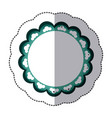 green emblem with abstract decorations icon vector image