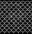 Grunge fish scales monochrome seamless pattern vector image