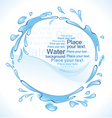 water frame vector image