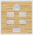 Set of envelope vector image