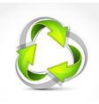 green recycling symbol vector image vector image