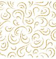 Gold wave seamless pattern draw vector image