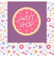 Logo template for sweets shop Pattern with vector image