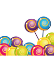 colorful delicious lollipop collection vector image