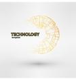 Creative logo design template Golden vector image