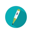 Digital medical thermometer flat icon vector image