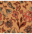 Floral seamless pattern in brown colors vector image