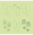 Footprints shoes vector image