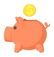 Money box icon cartoon style vector image