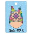 Sale label with top colorful vector image