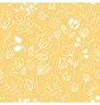 seamless pattern White flowers vector image