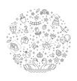 wedding outline symbols vector image