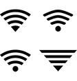 Wireless symbols vector image