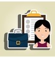 worker woman isolated icon design vector image