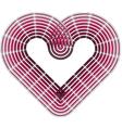 heart shape vector image