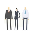 team of young business people vector image