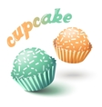 with two cupcakes vector image