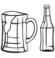 Light beer vector image