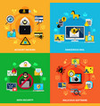 data security 2x2 design concept vector image