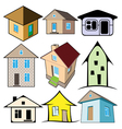 house icons set vector image vector image