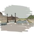 Hand drawn Paris cityscape vector image vector image