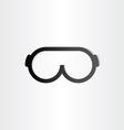 glasses line icon design element vector image