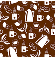 tea breack pattern brown vector image vector image