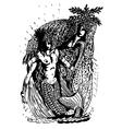 mermaids vector image
