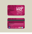 Front And Back Modern Geometric Purple VIP Member vector image