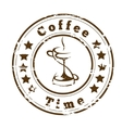 Coffee time logo design vector image