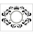 beautiful calligraphic frame with crown vector image