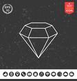 diamond sign jewelry symbol gem stone flat vector image