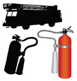 Fire truck-extinguisher vector image