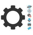 Gear Icon With Free Bonus vector image