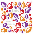 hand-drawn of simple tree leaves isolated autumn vector image