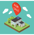 isometric large private modern cottage or house vector image