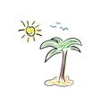 palm icon cartoon color vector image