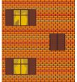 seamless brick wall and windows vector image