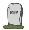 Spooky tombstone vector image