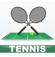 Tennis court and rackets vector image