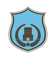 blue police badge icon image vector image