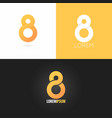 number eight 8 logo design icon set background vector image